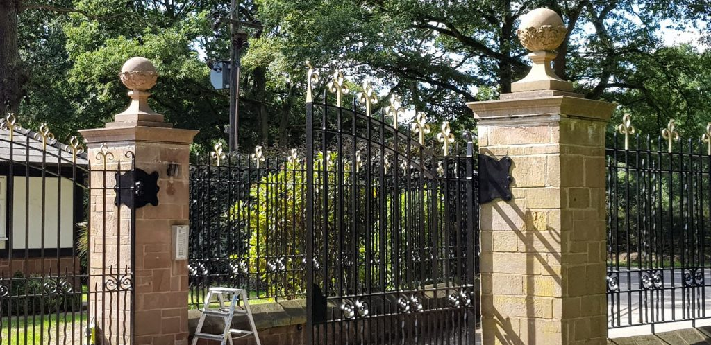Exterior painting - Railings and Automatic Gates