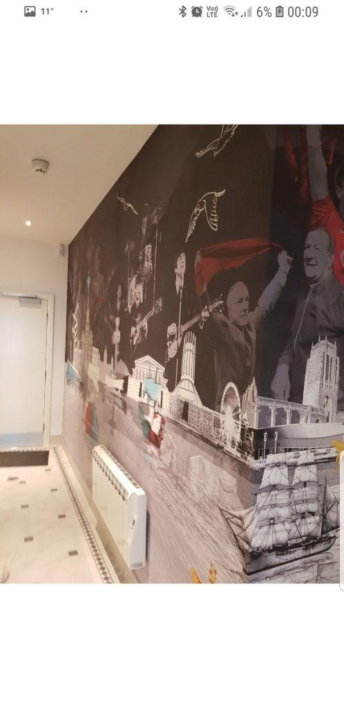 Digitally printed mural wallpaper